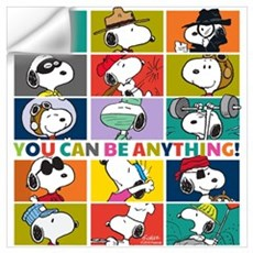 Snoopy-You Can Be Anything Wall Art Wall Decal